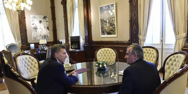 El Presidente recibió al gobernador Gerardo Morales