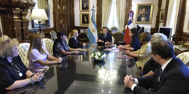 Macri recibió a familiares de víctimas de violencia de género