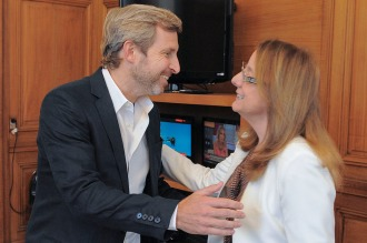 Frigerio mantuvo un encuentro con la gobernadora Alicia Kirchner