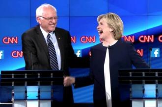 Hillary Clinton y Bernie Sanders midieron fuerzas en el último debate presidencial