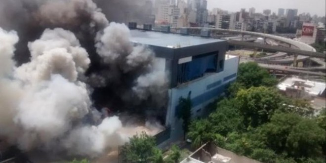 Canal 13 y Todo Noticias dejaron de transmitir por el incendio