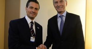 Macri acordó con Peña Nieto incrementar los vínculos comerciales entre la Argentina y México