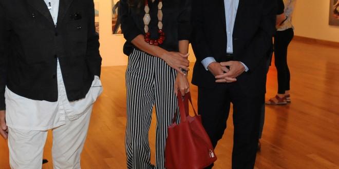 Macri visitó la muestra de Roberto Plate en el MNBA