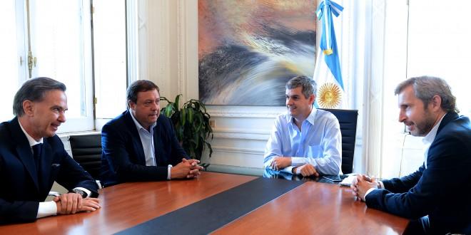 Marcos Peña recibió al gobernador de Río Negro