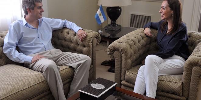 Marcos Peña se reunió con la gobernadora María Eugenia Vidal