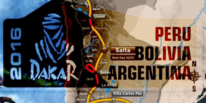 Recorrido del Rally Dakar 2016