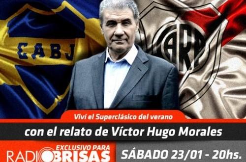 Víctor Hugo Morales relatará Boca-River para el Interior
