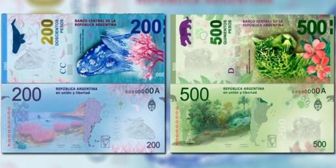 Los billetes de 200 y 500 pesos saldrán a mediados de 2016