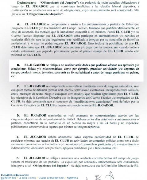 Las extrañas clausulas del contrato de Tevez en Boca