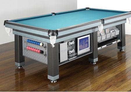 cuanto mide una mesa de pool y cual es el espacio minimo