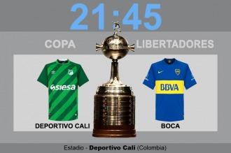 Boca visita al Deportivo Cali, en el comienzo del sueño en la Copa Libertadores