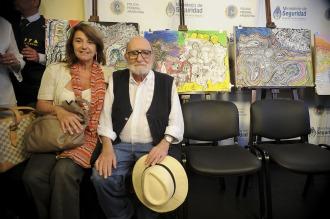 """""""Estoy muy contento de que las obras regresen a casita"""", dijo el artista Luis Felipe Noé"""