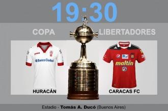 Huracán inicia su sueño en la Copa Libertadores ante Caracas de Venezuela