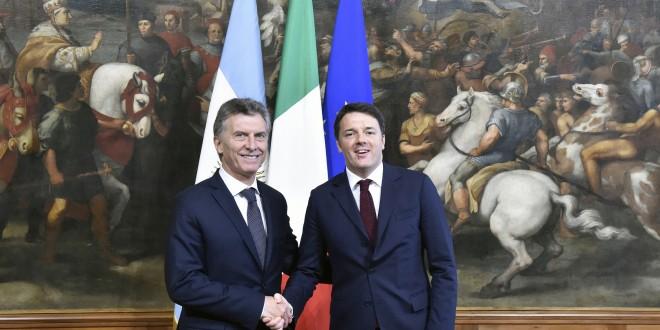 Macri mantuvo un encuentro con el primer ministro de Italia