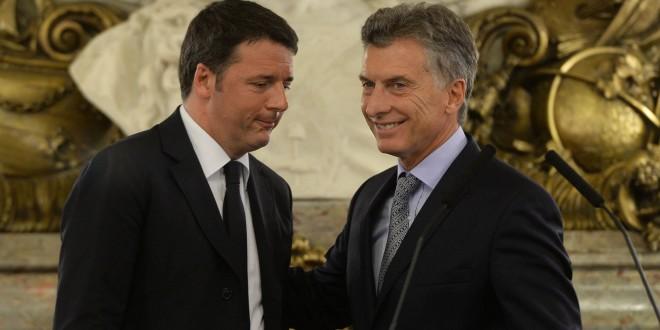 Macri mantuvo un encuentro con el primer ministro italiano en Casa Rosada