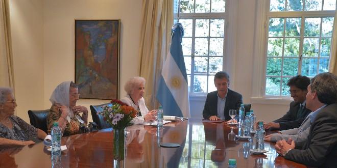 Macri recibió a organismos de Derechos Humanos