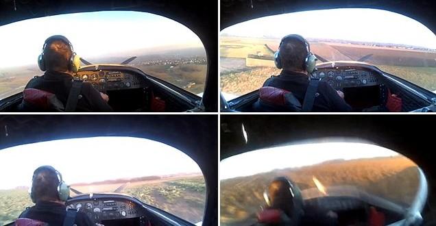 Video: Un piloto graba cómo se estrella con su avioneta