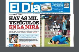 La prensa boliviana fue dura con su seleccionado tras la derrota con Argentina