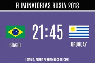 Brasil recibe a Uruguay con el regreso de Luis Suárez