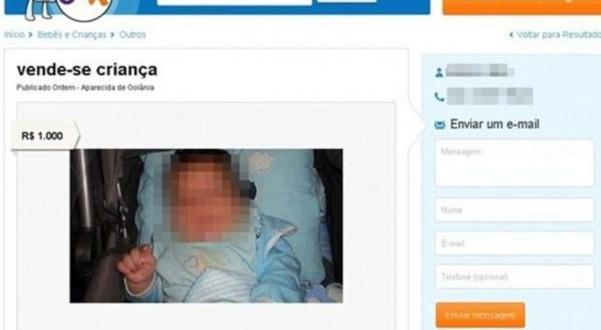 Detienen a un hombre por ofrecer a la venta a su bebé en internet