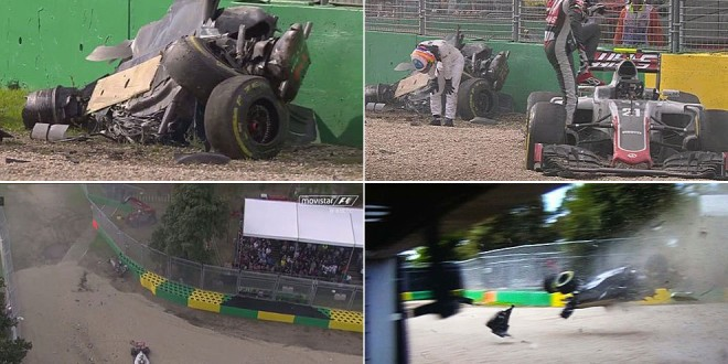 El video del accidente de Fernando Alonso