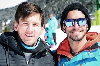 Familia, amigos y nieve, en las minivacaciones de Messi