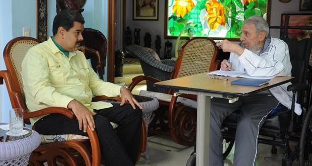 Fidel Castro recibió a Maduro en Cuba horas antes de la llegada de Obama