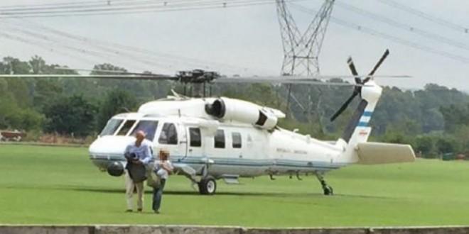 Guillermo Dietrich explicó por qué utilizó el helicóptero presidencial