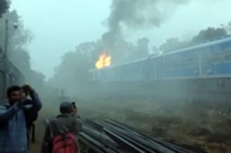 Incendio en un tren de pasajeros de la línea San Martín: 32 heridos leves