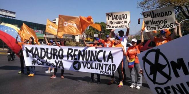 La oposición venezolana salió a la calle para exigir la renuncia de Nicolás Maduro