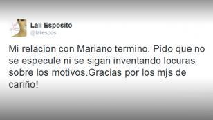 Lali Espósito se separó de Mariano Martínez
