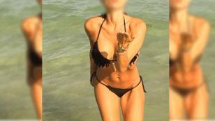 Morocha argentina se muestra muy hot en la playa