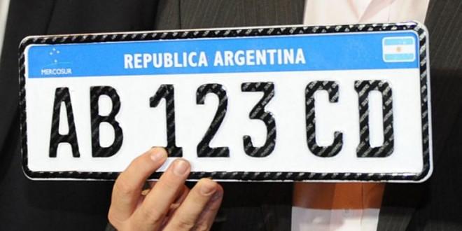 """Comenzó la distribución de la nueva """"patente Mercosur"""""""
