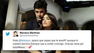 """Mariano Martínez a Lali: """"¡Quiero que sepas que te amo!"""""""