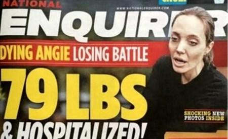 Internaron a Angelina Jolie por anorexia