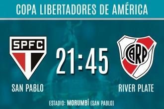 River quiere cerrar el pase a octavos de la Copa Libertadores en San Pablo