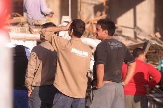 Se derrumbó una obra en Avellaneda: cinco heridos