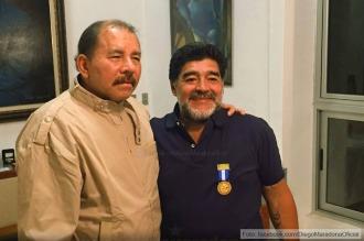 Maradona recibió la máxima condecoración de Nicaragua