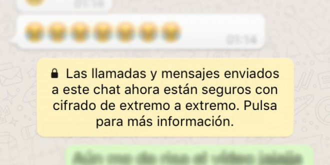 ¿Qué es el nuevo mensaje que apareció hoy en WhatsApp?