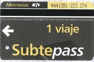 Desde el lunes no se venderán más Subtepass