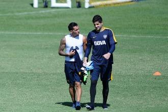 Guillermo puso a Tevez de titular en la práctica para jugar ante Cerro Porteño