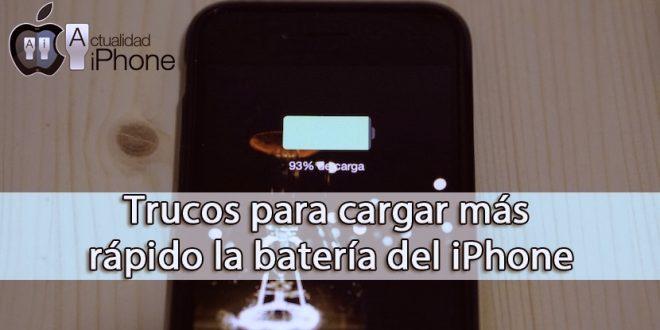 Como cargar rápido la bateria de tu iPhone
