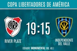 River va por un triunfo ante Independiente del Valle para seguir en la Libertadores