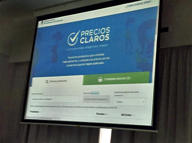 El sistema de información de precios online se puede consultar desde hoy