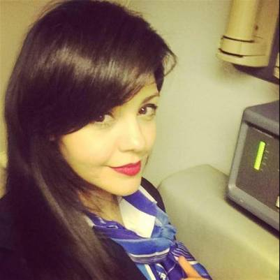 La foto que habia publicado una de las azafatas del avión de Egiptair