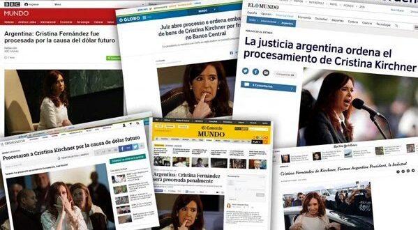 Todos los diarios del mundo se hicieron eco del procesamiento de Crisitina Kirchner