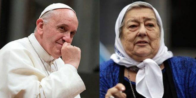"""Papa Francisco: """"Sé bien quién es Hebe de Bonafini, pero no le cierro la puerta"""""""