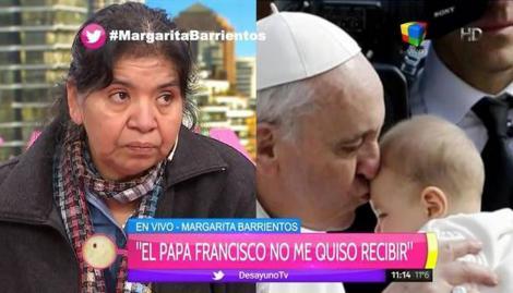 El Papa dice que jamás se enteró de que estaba Margarita Barrientos. La recibirá ahora?