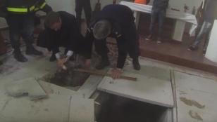 Descubren bóvedas en convento donde detuvieron a López