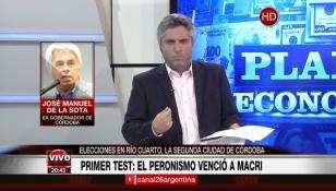 "De la Sota celebra el triunfo del PJ en Córdoba: ""Macri no va por buen camino"""